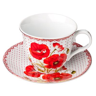 Маков цвет Набор чайный 4 пр., 220мл, фарфор - 1