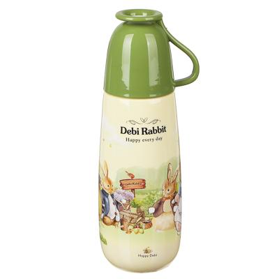 """Бутылочка с кружкой, пластик, 650 мл, """"Зайчата"""" - 1"""