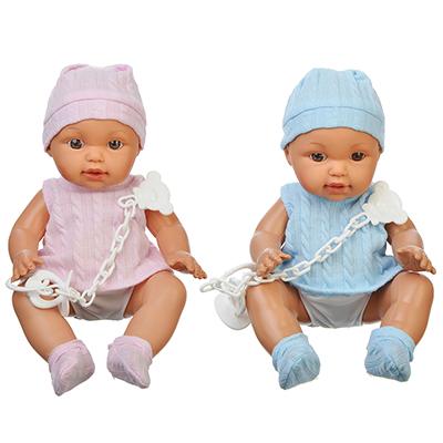 ИГРОЛЕНД Кукла функциональная с аксессуарами, 12 звуков, пьет, пластик, текстиль, 30см, 2 дизайна - 1