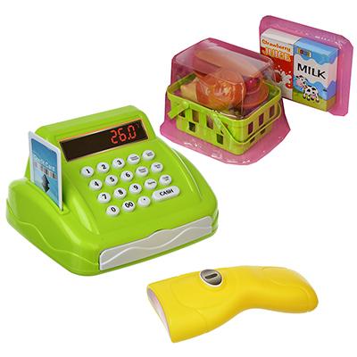 ИГРОЛЕНД Кассовый аппарат с овощами, свет/звук, пластик, 32,5х17,9х14см, 200062272 - 1