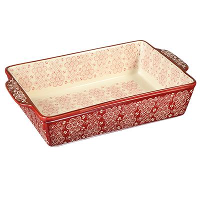 Форма для запекания MILLIMI, 31х20х6,5 см, керамика, красная - 1