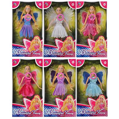 Кукла с крыльями, пластик, полиэстер, 29см, 6 дизайнов, BLD081/BLD081-1 - 1