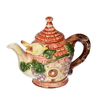 """Домики Чайник заварочный, керамика, 600мл, """"Виноградная лоза"""" - 1"""