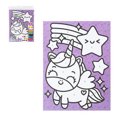 """Фреска из песка с цветным фоном """"Микс"""", бумага, песок 8-10цв., 21,5х31,5см, 6-8 дизайнов - 1"""