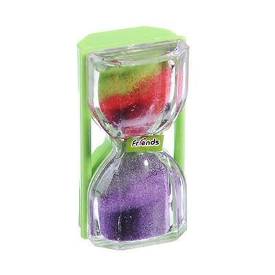 Часы песочные, пластик, 6х3,4см, 4 цвета - 1