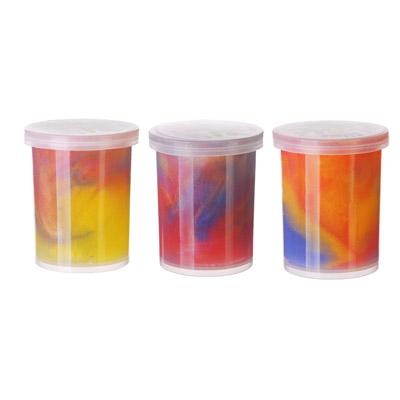 LASTIKS Игрушка-лизун в баночке жидкий, полимер, 4х4х4,5см, 3 цвета - 1