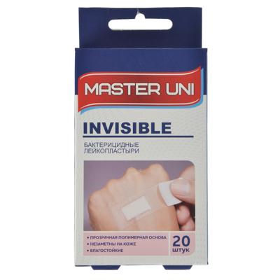 Фото - Лейкопластырь бактерицидный Прозрачный, Master Uni лейкопластырь master uni фикс 3х 500 см на тканевой основе