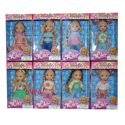 Маленькая куколка, пластик, полиэстер, 7,5х3,8х13см, 8 дизайнов, OP2810 - 1