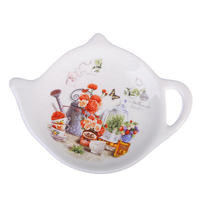MILLIMI Дачница Подставка для чайных пакетиков 12х8,4х1,5см, керамика - 1