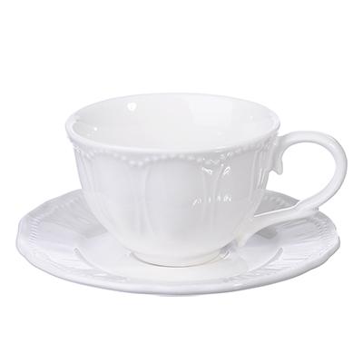MILLIMI Альбина Кофейная пара (чашка 100мл., блюдце 11 см), фарфор - 1