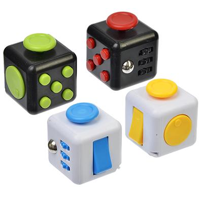 "Игрушка-антистресс ""Кубик Жми-Крути"", пластик, металл, 3,5см, 5 дизайнов, 4401 - 1"