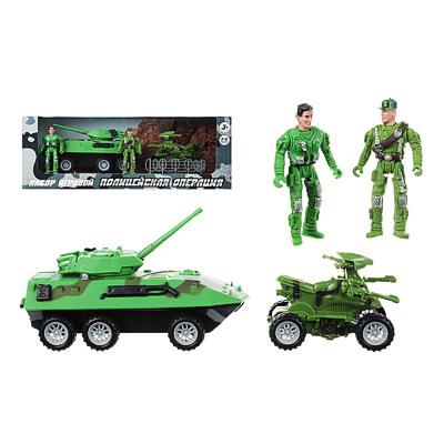 ИГРОЛЕНД Игровой набор Полицейская операция: авто-/авиа техника, металл, пластик, 27,5х10,5х25см - 1