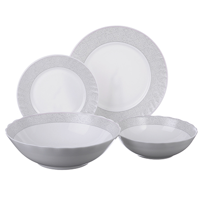 """Набор столовой посуды 19 предметов, опаловое стекло, MILLIMI """"Беата"""" - 1"""