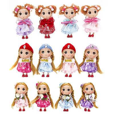 Брелок-куколка, пластик, полиэстер, 12см, 4 цвета - 1