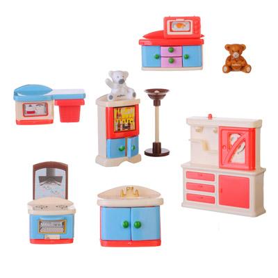 ИГРОЛЕНД Набор мебели с фигурками, пластик, 25,5Х16Х4см - 1