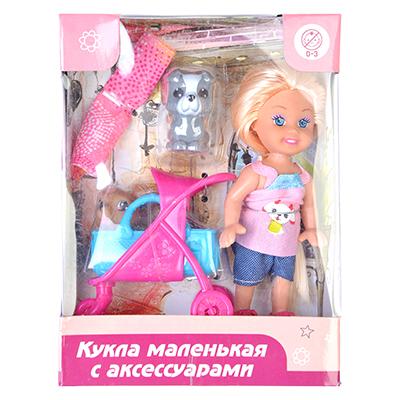 ИГРОЛЕНД Кукла маленькая с аксессуарами, пластик, полиэстер - 1