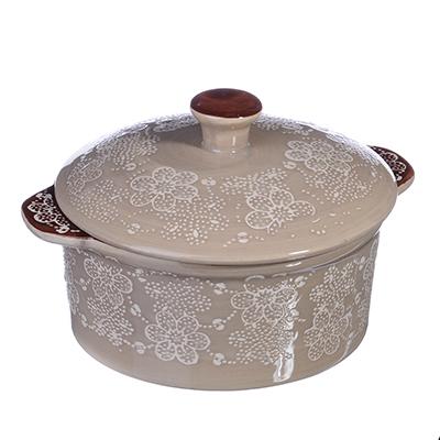 Горшочек с крышкой для запекания и сервировки, 500мл, керамика, MILLIMI - 1