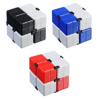 """Игрушка-антистресс """"Кубик-Бесконечность 360 градусов"""", пластик, 8х4х2см, 3-4 цвета - 1"""