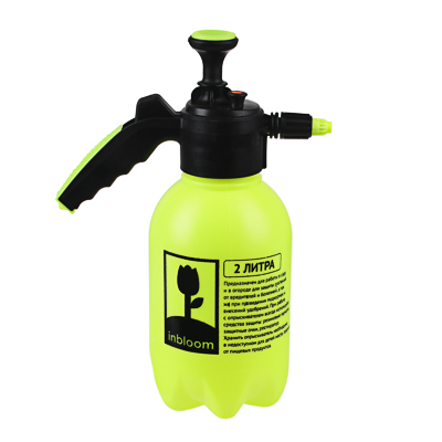 Пульверизатор помповый, пластик, 1,75л., 30 см, желтый, 21х13х24, INBLOOM