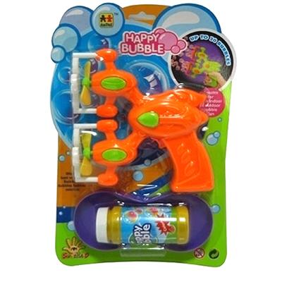 Пистолет для пускания мыльных пузырей 2 пропеллера, бат., в компл. мыльный р-р 110мл, 20х30х6,5см - 1