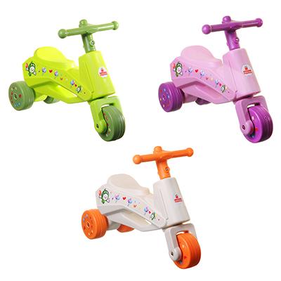 Толокар детский, пластик, колеса резина, 58х20х40см, 3 цвета - 1