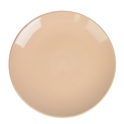 Глянец Тарелка десертная, 20см, керамика, бежевый - 1