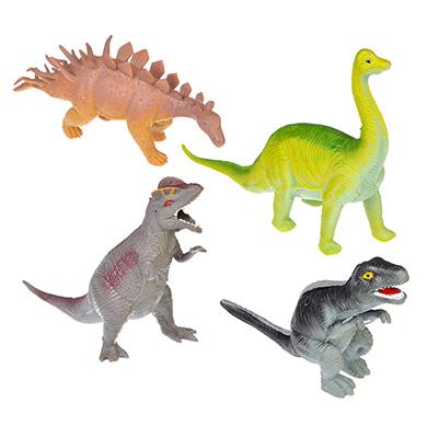 Фигурка в виде Динозавра, резина, 13-19х7-13х3,5-4см, 4 дизайна - 1