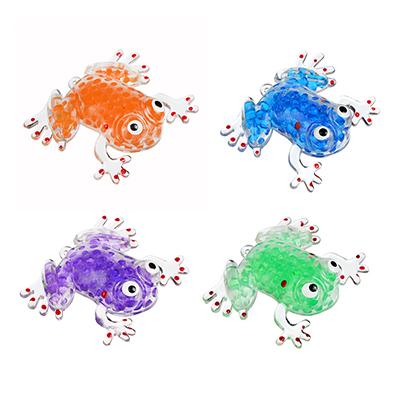 Мялка в виде Лягушки с шариками, резина, 8,5х7х1,3см, 4-6 цветов - 1
