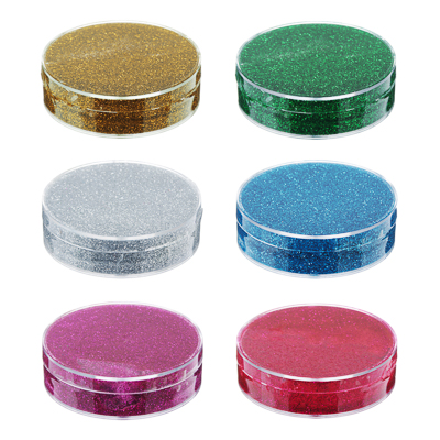 Лизун твердый с блестками 50гр., полимер, 7х7х2см, 6 цветов - 1