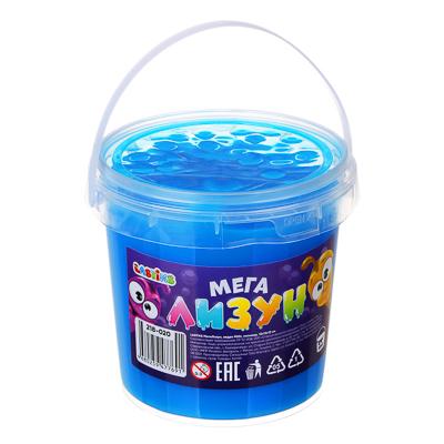 LASTIKS МегаЛизун с блестками, ведро 900г, полимер, 12х12х12 см, 12 цветов - 1