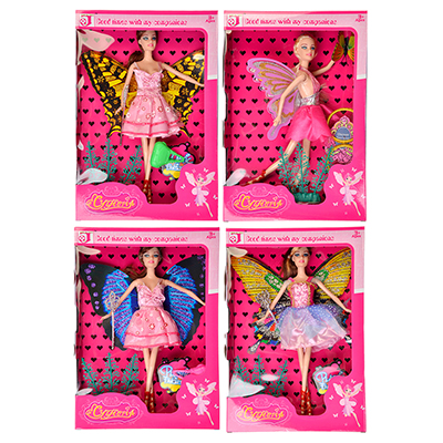 Кукла с крыльями 29см, пластик, полиэстер, 9х29х3см, 2 дизайна - 1