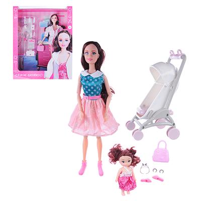 ИГРОЛЕНД Кукла с аксессуарами, 7-12 пр., ABS,PVC, полиэстер, 18х32х6,5см, 3 дизайна - 1