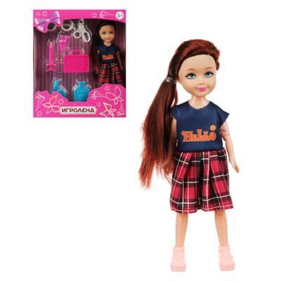 ИГРОЛЕНД Кукла в виде малышки с аксессуарами, PVC, полиэстер 25х19, 5х10см, 4 дизайна - 1