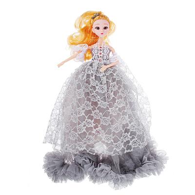 Кукла в пышном наряде, шарнирная, 30см, пластик, полиэстер, 4-6 цветов - 1