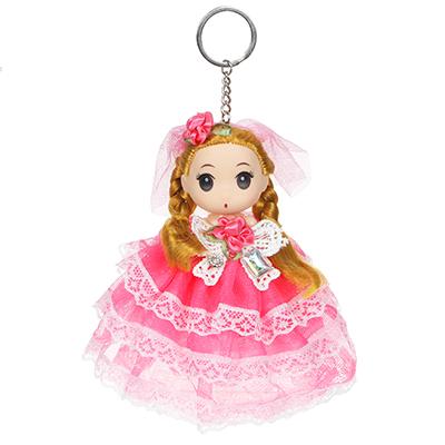 ИГРОЛЕНД Брелок куколка, 12-15см, пластик, полиэстер, 2 дизайна, 5-10 цветов - 1