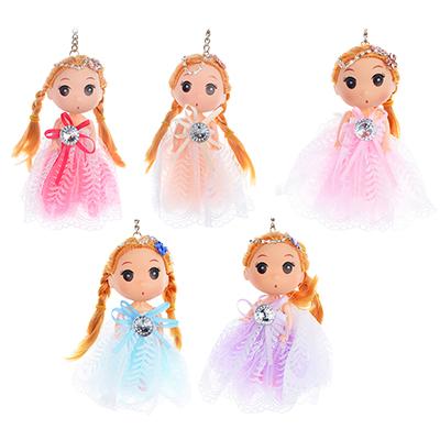 Кукла-брелок в пышном наряде, 12см, пластик, полиэстер,4-6 цветов - 1