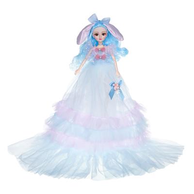 ИГРОЛЕНД Кукла в пышном свадебном наряде, 30см, пластик, полиэстер, 4-8 цветов - 1