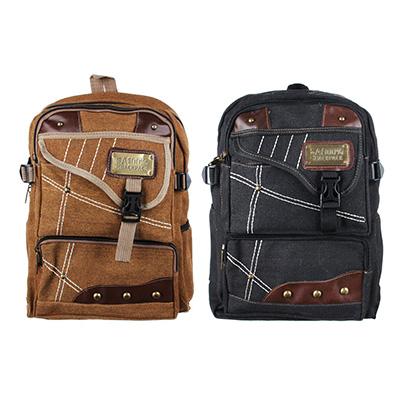 Рюкзак подростковый 41x31x15см, мягкий, 1 отдение на молнии, 4 кармана, металл, 2 цвета - 1
