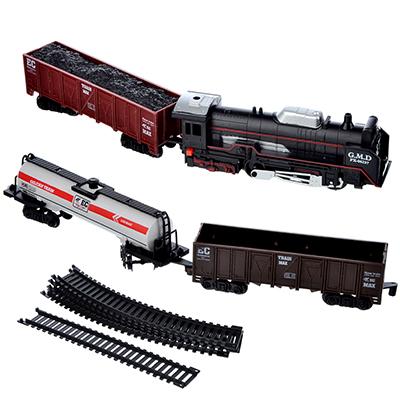 ИГРОЛЕНД Поезд с железнодорожными путями 240см, на батарейках, 2АА, пластик, 35х24х4см - 1