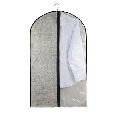 Чехол для одежды с прозрачным окном VETTA, 60х100 см, искусственный лен/полиэтилен - 1