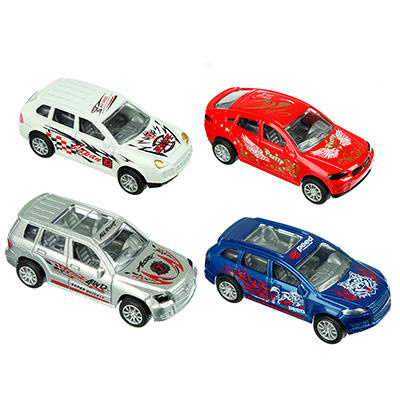 Машинка Классическая 8см, металлическая, инерционная, 8х2х3,5см, 4 дизайна - 1