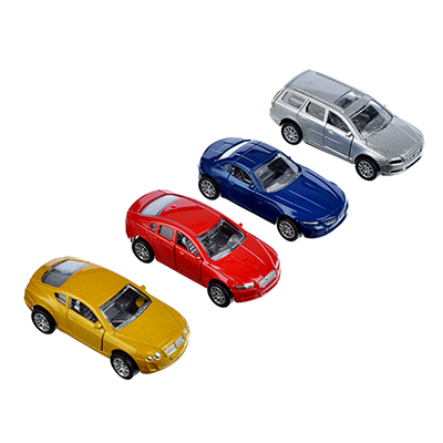 Машинка Городская 8см, металлическая, 8х2х3,5см, 4 дизайна - 1