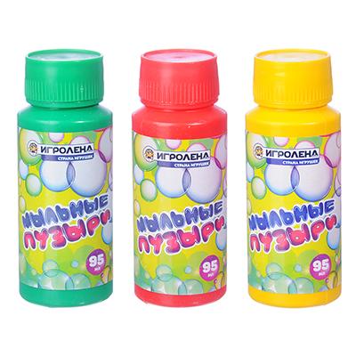 ИГРОЛЕНД Мыльные пузыри, 95мл, мыльный раствор, пластик - 1