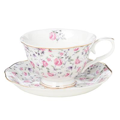 MILLIMI Пастораль Набор чайный 2 пр. (чашка 250мл, блюдце 15см), костяной фарфор - 1
