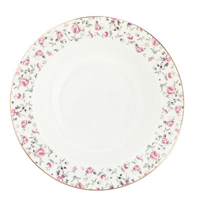 "Тарелка суповая, костяной фарфор, 21,5х4,5 см, MILLIMI ""Пастораль"" - 1"