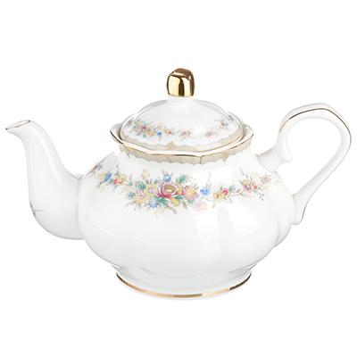 """Чайник заварочный, костяной фарфор, 1000  мл, MILLIMI """"Версаль"""" - 1"""