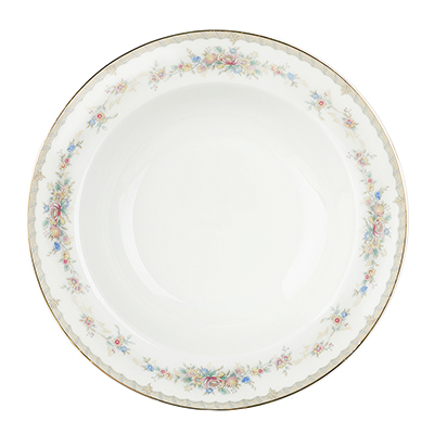 "Тарелка суповая, костяной фарфор, 21,5х4,5 см, MILLIMI ""Версаль"" - 1"