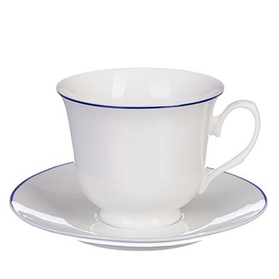 """Чайный сервиз 4 предмета, 250 мл, костяной фарфор, MILLIMI """"Марина"""" - 1"""