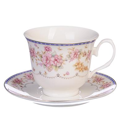 "Чайный сервиз 4 предмета, костяной фарфор, 250 мл, MILLIMI ""Флер"" - 1"