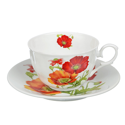 MILLIMI Маки Набор чайный 12 пр., 260мл, тнк. фарфор - 1